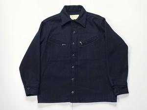 80s 90s Melton Outer Wear メルトン USA製 ウール シャツ ジャケット ビンテージ M