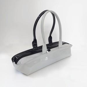 [ sugaya design lab エナメルバッグ ]  在庫1点  hosonaga  M# ブラック+グレー