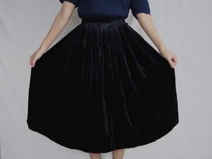 FRANCE velours pleats skirt