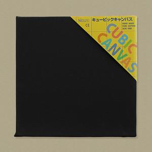 キュービック・キャンバス黒(縦300㎜×横300㎜×厚38㎜)