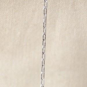 シルバー925 ネックレスチェーン 50㎝ カットあずきチェーン