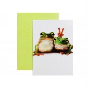 カエル ポストカード アヴァンティプレス/バースデイカード「ピース」 201196-c165