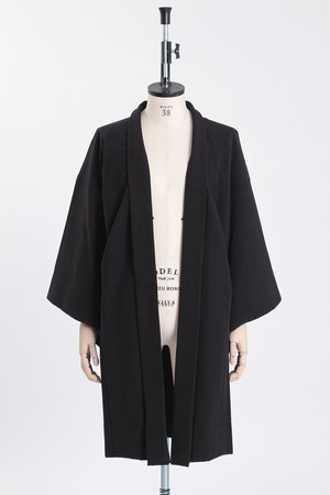 羽織 / 久留米着尺 / Solidblack(With tailoring)