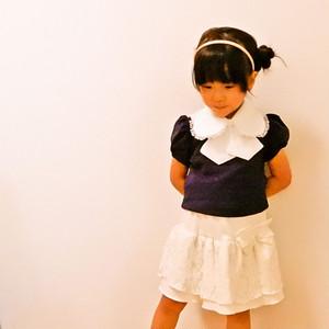 襟みたいなよだれかけnini nene ニニネネスタイ(スタイエリッシュ)白・白レース