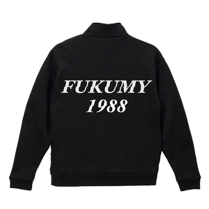 FUKUMY Logo Half zip sweat