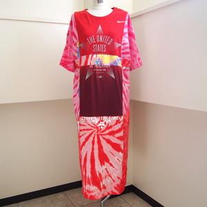 【RehersalL】 big mix T-shirt one-piece(34)/【リハーズオール】 ビッグ ミックス Tシャツ ワンピース(34)