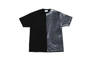 "EZ DO by EACHTIME. ""BLEND TEE"" BK/WH"