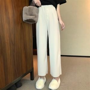 【bottoms】ファッション無地ハイウエストガウチョパンツ21862685