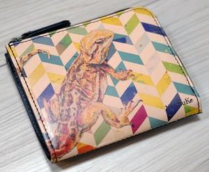 本革ファスナー財布  [ フトアゴヒゲトカゲ ]nijisuke