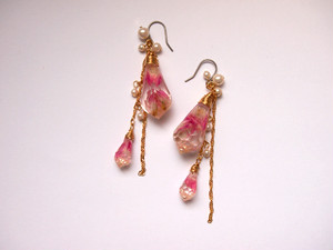 crystal pierced earrings [D]