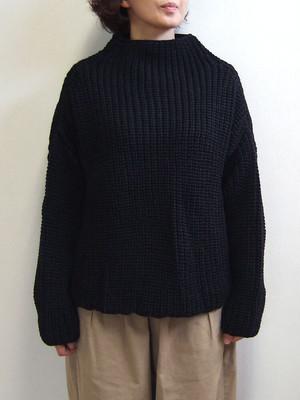 Kerry Woollen Mills ケリーウーレンミルズ HC Bottle Neck ボトルネックニット sweater セーター Ladies レディース イギリス製 MadeinEngland JetBlack KW-0012