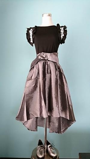 ウエストリボンフィッシュテイルフレアスカート