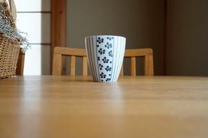 砥部焼/フリーカップ/青小紋×青十草/すこし屋