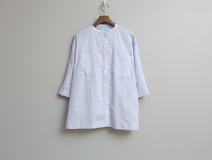 コットンラミーシャンブレーのオーバーシャツ