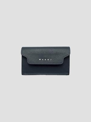 MARNI BUSINESS CARD CASE ORION BLUE /BLACK PFMI0046U0LV520Z497N