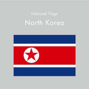 国旗ステッカー ノースコリア(北朝鮮)