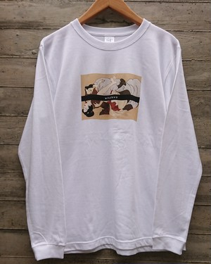 春画WHATEVS LONG-SLEEVE T/col.wht