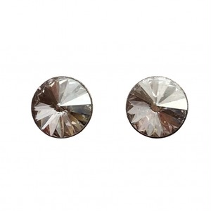 スタッド ピアス スモーキークォーツカラー KRiKOR ドイツ製 Stud Pierce Silver Shade