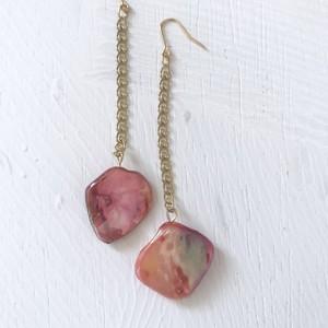 pierce or earring / シェルのチェーンピアス、イヤリング
