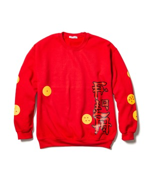 """Shenron"" L/S SWEAT  RED  19AW-FS×DB-02"