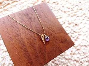 【受注生産】IRENE Accessory Necklace■Star Dust■Amethyst & triagle