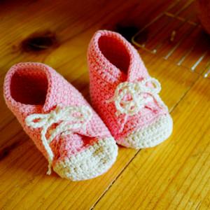 ピンクのベビーシューズ・紐靴