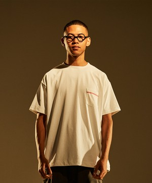 1Pocket SS Loose Tee -white <LSD-BJ1T8>