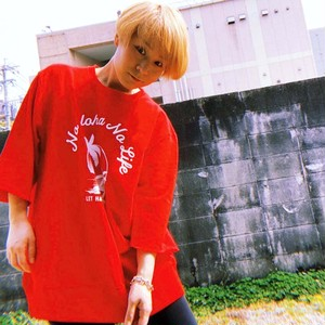 PARM TREE Sweat Six-quarter sleeves col.red