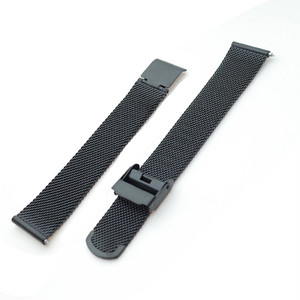 腕時計用 メッシュ替えベルト 18mm幅 169941 ブラック