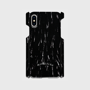 iphone X/XS用 case 【hanabi】ブラック  【送料無料】
