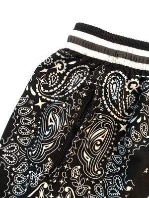 Zip Shorts / Paisley