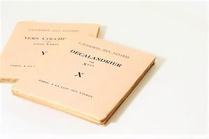 DECALANDRIER -2set- /洋書ディスプレイ