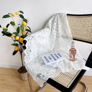 white flower vintage mini tablecloth  / レース ミニ テーブルクロス