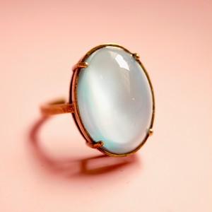 ライトアクアマリンガラスリング(指輪)