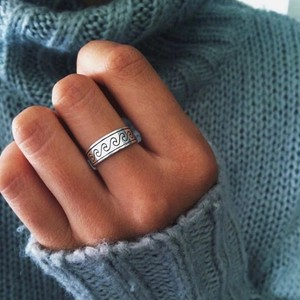 Silver Wave Ring♥