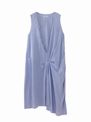 Peal drape dress  / blue purple / S15DR05
