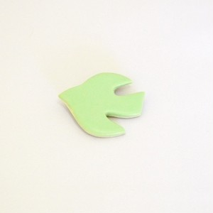 鳥のブローチ(green)