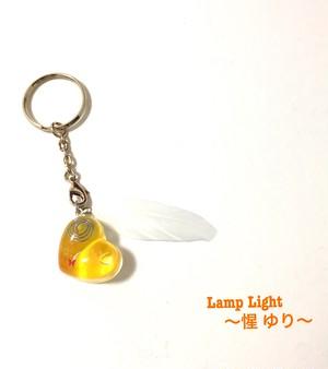 オルゴナイト ぷっくりハート(イエロー・羽 2)