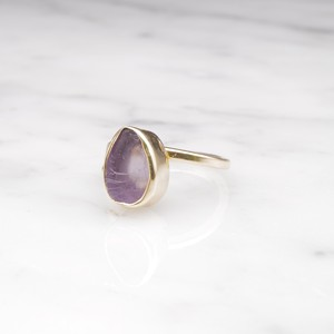 ROUGH STONE RING GOLD 001