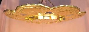 銅 金箔押し 護摩天蓋 3尺5寸