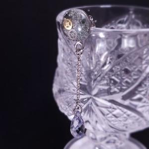 〈glass series〉ブラックピアス