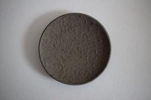 望月万里|土灰豆皿 ダリア