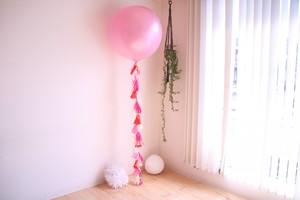 タッセルバルーン(フリンジバルーン) 30インチ(約70センチ) ピンク 送料込み 引き取りの場合11,000円