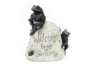 蛙の置物 ガーデンサイン カエル  garden frog  ts80450-1903