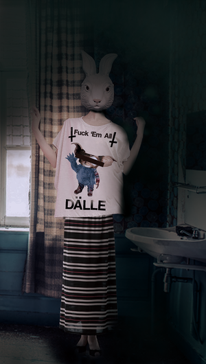 DALLE,  gcc monsters, big silhouette tee