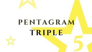 PENTAGRAM-3連- 五芒星クリスタル・ブレスレット