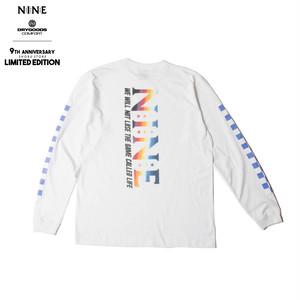 NINE RULAZ LINE × DRYGOODS COMFORT LIMITED L/S TEE WHITE