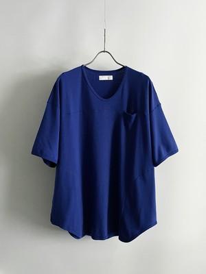 T/f Lv3 gauze sweat loose fit football T-shirt - blue