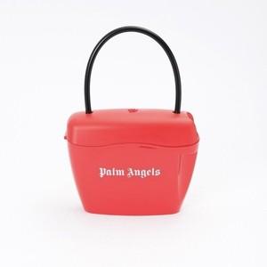 PALM ANGELS PADLOCK BAG RED WHITE