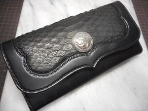 レッドパイソンロングウォレット~redpython tri-fold wallet~